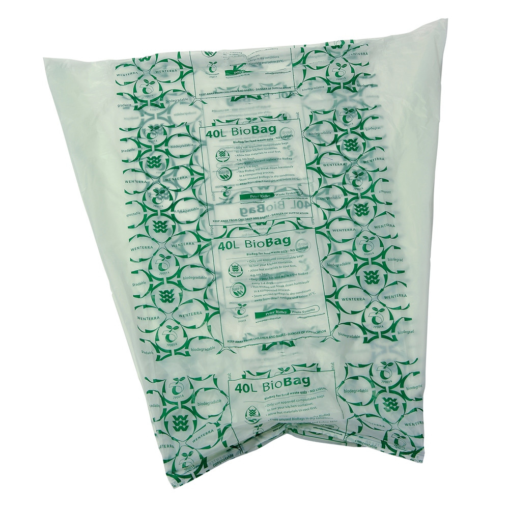An image of 40 litre Biodegradable & Compostable Liners NEW PRICE