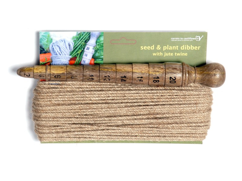 An image of Seed & Plant Dibber with jute twine