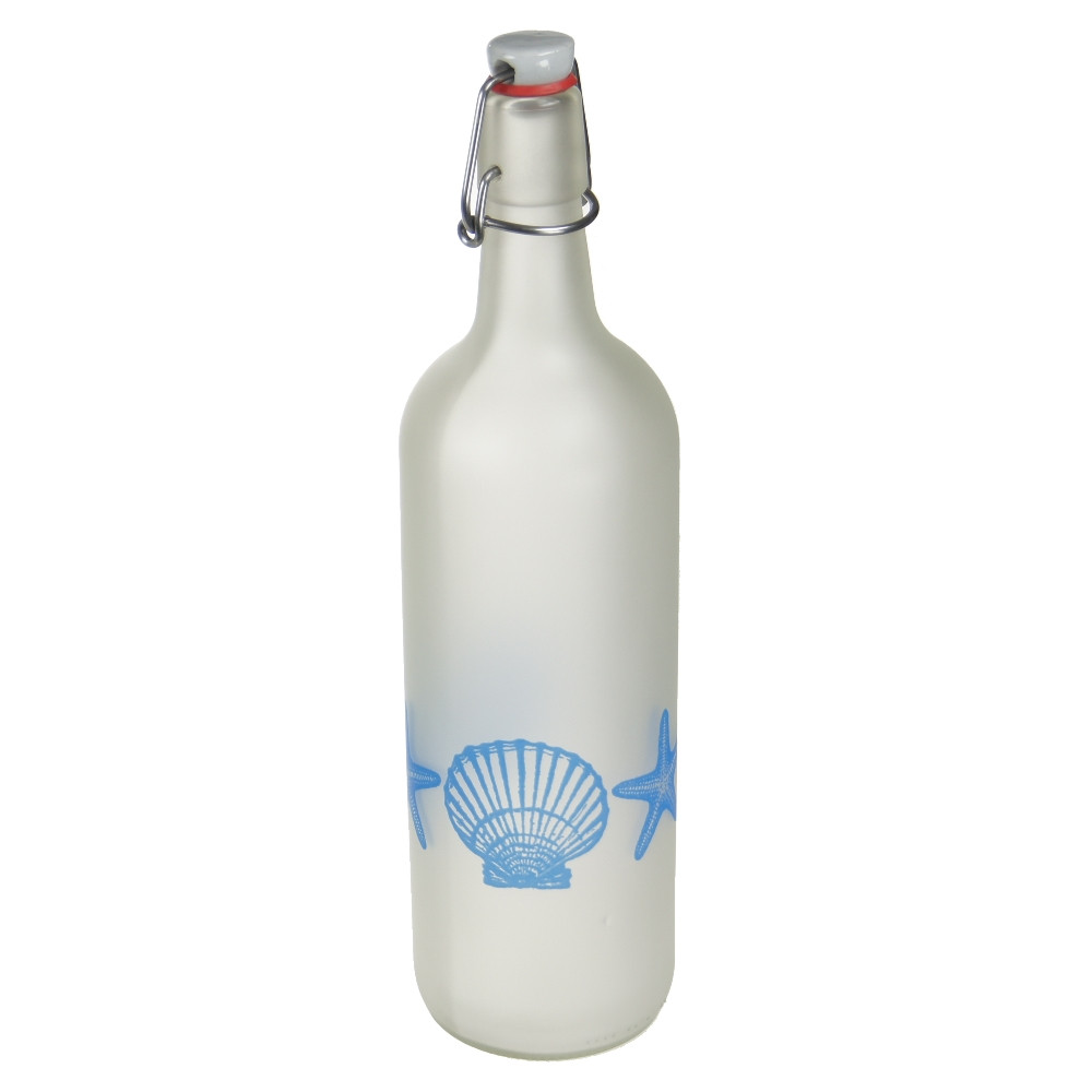 An image of Lemonade Bottle with Scallops and starfish design