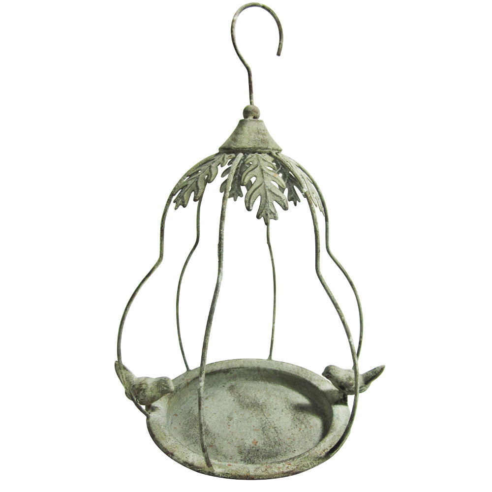 An image of Hanging Bird Feeder in Airy Pear Bird Cage Shape