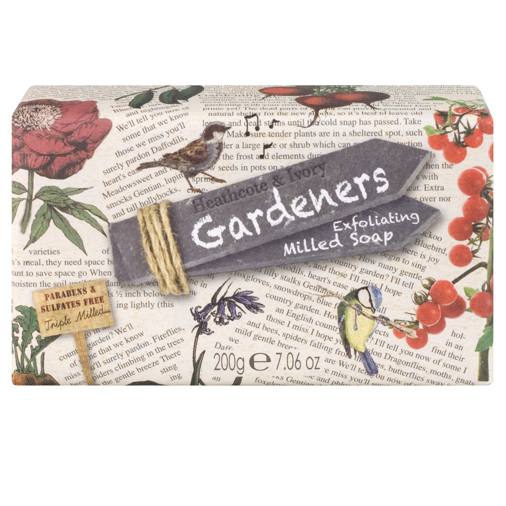 An image of Gardener's Exfoliating Milled Soap 200g, no sulfates or parabens