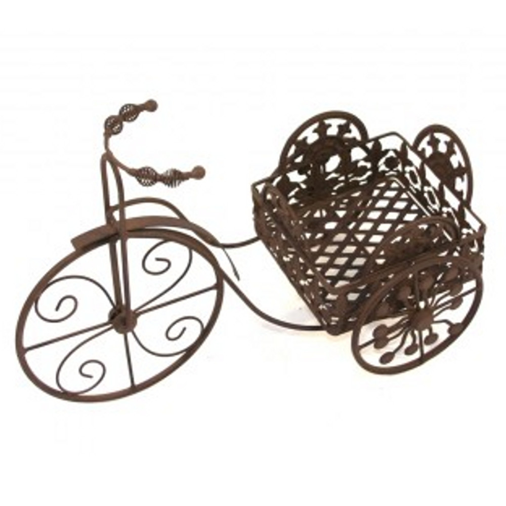 An image of Marvell's Wrought Iron Tricycle Planter