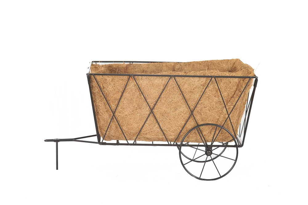 An image of Haycart Planter Traditional Style Metal complete with Liner NEW