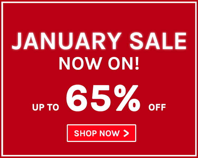 Up To 65% Off! January Sale Now On!